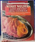 WEIGHT WATCHERS Quick  Easy Menu Cookbook SILVER ANNIVERSARY