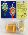 Vintage Christmas Ornament Kit Jeweled Classic Gold Satin Ball Pearls Sequins