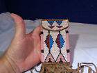 ~*~ESTATE FIND~*~*  NATIVE AMERICAN STYLE LEATHER BEADED POUCH #6
