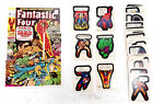 1975 Marvel Comic Book Heroes Trading Sticker Set - 40 Cards Topps (TC-1887)
