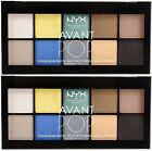 2 NYX Avant POP 10 Color Shadow Palette New  Sealed APSP02 Surreal My Heart