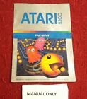 MANUAL ONLY For PAC-MAN for Atari 5200 Instruction book