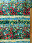 Flowers Garden Floral Border Look cotton fabric BY THE YARD BTY