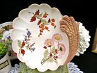 VINTAGE GERMANY bowl with painted flowers shell shape handle German bowl
