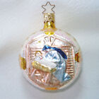 Inge Glass Madonna Child Nativity Christmas Ornament