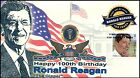 Ronald Reagan #4494 100th Birthday Therome Cacheted First Day Cover
