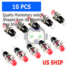 10pcs Lockless Momentary ON OFF Push button Red Mini Switch PBS 110 M121