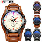 CURREN Men's Date Alloy Case Synthetic Leather Analog Quartz Sport Watch Fashion