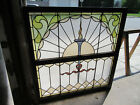 ~ ANTIQUE STAINED GLASS WINDOWS ~ TOP AND BOTTOM SET ~ ARCHITECTURAL SALVAGE