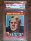 1971 Terry Bradshaw Rookie, #156 Topps, PSA 8 (OC), Pittsburgh Steelers
