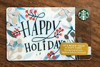 "Starbucks Gift Card 2016 ""Happy Holidays"" Holly Celebration Holiday No $ Value"