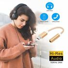 USB C Adapter Type C to 3.5mm Aux Audio Jack Earphone Headphone Cable USB