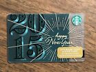 "Starbucks Gift Card 2015 ""Happy New Year"" Firework Burst Star Holiday No $ Value"