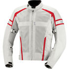 iXS Andover Mesh Motorcycle Jacket With Armor Gray Red Mens