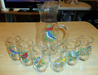 6 Song Bird Glasses With Gold Trim