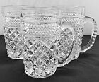 Set of 3 Anchor Hocking Wexford Clear Glass Mugs