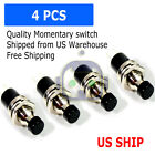 4 Pack SPST Normally Open Momentary Push Button Switch Black
