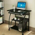 Computer Desk PC Laptop Tempered Glass Table Workstation Office Home Furniture