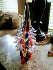 Murano Italy Multiple Colors Glass Christmas Tree 11 in