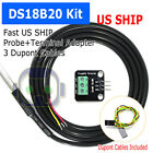 100cm Waterproof DS18B20 Temperature Sensor + DS18B20 Adapter Module for Arduino