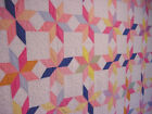 CHEERY  MULTI COLOR ANTIQUE STAR QUILT  FRESH CLEAN 1940S
