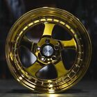 18 ESR SR02 Gold Chrome Wheels For Acura RSX TSX 18x85 5X1143 +30 Rims Set