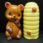 Vintage Anthropomorphic Honey Bee Hive  Bear Salt Pepper Shakers JAPAN