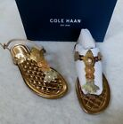 COLE HAAN SIZE 9.5 PINCH LOBSTER SANDAL THONG STYLE: W11249 GOLD/ROSE GOLD NIB
