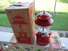 Vintage Red Coleman Gas Lantern Model 200A ~ 1969 ~ w/ Pyrex Globe, Box , Instru