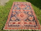 Blue ORIENTAL Area RUG 79x53 Well Loved AS IS