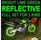 NINJA LIME GREEN 3M REFLECTIVE RIM STRIPES WHEEL DECALS TAPE STICKERS SAFETY 17