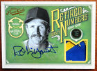 Robin Yount 2012 Prime Cuts Retired Jersey Numbers Patch Auto #7 10 Brewers HOF