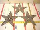 9  -- 9 ''  CAST IRON TEXAS STARS  AMERICANA  STAR  OLD  BUILDING  STYLE  CRAFT