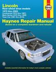 Repair Manual fits 1970-2007 Lincoln Town Car Continental Mark VII  HAYNES