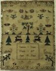 EARLY 19TH CENTURY MOTIF SAMPLER BY CATHARINE GODLEY AGED 10 MARCH 27th - c.1810