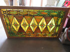 ~ EXTRAORDINARY ANTIQUE STAINED GLASS WINDOW ~ 26 X 44 ~ ARCHITECTURAL SALVAGE ~
