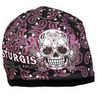 HD Sublimation Sturgis Rally 2016 Sugar Muerte Skull Biker Stocking Cap Beanie