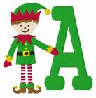 Elf Christmas Machine Embroidery Monogram Font Designs CD Joyful Stitches