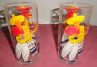 Set of 2 Vintage Hazel Atlas small drink juice glasses Mexican scene