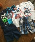 Boys Size 3t Lot 6 pc  (3)Tank Tops (1) T-Shirt and (2) Shorts