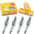 4pcs 04-06 Big Dog Ridgeback NGK Standard Spark Plugs Kit Set Engine mm