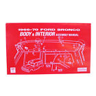 Jim Osborn Reproductions AM149 Bronco Assembly Manual Body And Interior 1966 197