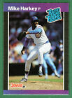 1989 Donruss #43 MIKE HARKEY Chicago Cubs Baseball Rated Rookie
