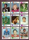 LOT OF (200) DIFFERENT 1973 TOPPS FOOTBALL CARDS (EX to EX-MT) *GMCARDS*