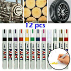 12X Color Paint Pen Marker Waterproof Permanent Car Tire Lettering Rubber Letter