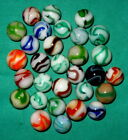 30 Mint ALLEY AGATE Marbles. 17/32