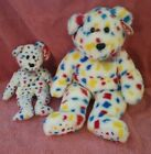 TY PAIR BEANIE BABY + BUDDY BUDDIES TY2K BEAR LARGE PLUSH SOFT MWMT 14