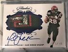 Marshall Faulk FILTHY Flawless Patch Auto 14 15 Aztecs Game Used Patch!