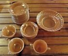 Lot of Vintage Fire King Peach Luster Dishware - 28 Pieces