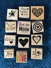 12 LOVE type Rubber Stamps 716